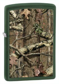 Zippo Green Matte Mossy Oak Break Up Infinity Lighter: Sports & Outdoors