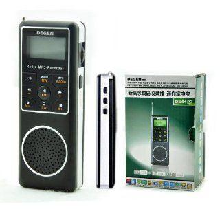 Degen DE1127 AM/FM/SW Pocket Radio with 4GB  Player, Voice Recorder & E book Reader