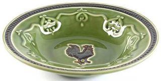 Cracker Barrel Elegant Rooster Rim Soup Bowl, Fine China Dinnerware   Embossed,B