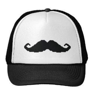 8 Bit Hipster Mustache Mesh Hats