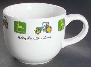 Gibson Designs John Deere (Tractor) Latte Mug, Fine China Dinnerware   Green&Yel