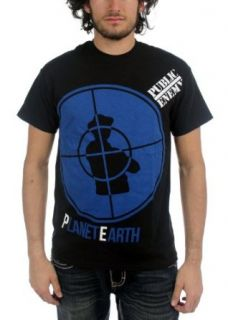 Public Enemy   Mens PE Blue Planet Earth Logo T Shirt: Clothing