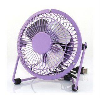 Mini Desktop Power PC Laptop Fan Desk,360 Degree Rotation,Purple Size 4 inch: Computers & Accessories