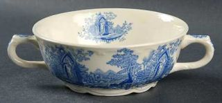 Taylor, Smith & T (TS&T) English Abbey Blue Flat Cream Soup Bowl, Fine China Din