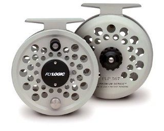 Fly Logic Premium Series Fly Fishing Fly Reel FLP567/P 5   6   7 Line Weight Aluminum Disc Drag Flyreel  Platinum Color Made In USA  Spinning Fishing Reels  Sports & Outdoors