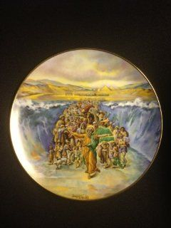 """""""The Parting of the Red Sea"""" By Artist Yiannis Koutsis Collector Plate IV of the Bible Series """"The Promised Land""""  Commemorative Plates"""