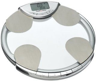 Health o Meter BFM582 63 Body Fat, Percent Hydration & Weight Tracking Scale, Glass with Chrome Accents: Health & Personal Care