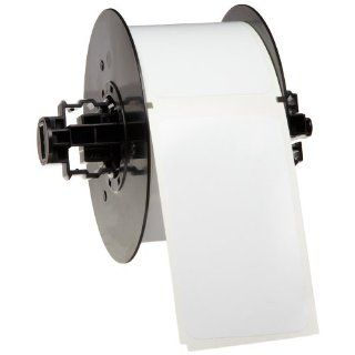 "Brady B30 219 595 BLNKWT 2.25"" Height x 3.850"" Width, B 595 Indoor/Outdoor Vinyl, White BBP31 Pre Printed Pre Cut Labels Tape with Sign Headers, 250 per Roll Industrial & Scientific"