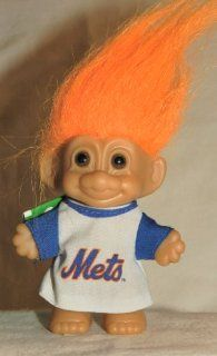 NY METS National League 4 Inch Troll Doll Figure (Orange Hair) Toys & Games
