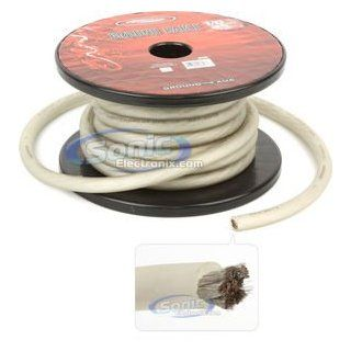 Tsunami GN601S 25 1/0 Gauge Ground Cable (25 Feet, Silver)  Vehicle Amplifier Power And Ground Cables