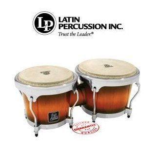 Latin Percussion Aspire Oak Bongos with Chrome Hardware Vintage Sunburst LPA601 SBC: Musical Instruments