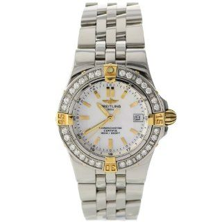 Breitling Windrider Starliner B7134053/A601 Original Pearl Diamond Ladies Watch: Watches