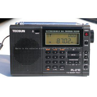 Tecsun PL 210 Digital PLL Portable AM/FM/LW Shortwave Radio, Black Electronics