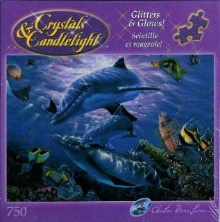 Crystals and Candlelight Christian Riese Lassen Sanctuary Puzzle Glitter and Glows!: Toys & Games