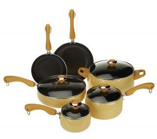 CooksEssentials 10 Piece Porcelain Enamel Cookware Set —