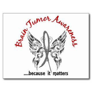 Grunge Tattoo Butterfly 6.1 Brain Tumor Post Cards