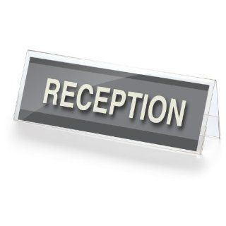 Officemate Desktop Sign Holder, 11(W) x 3.625(H) Inches, Clear (23011) : Literature Organizers : Office Products