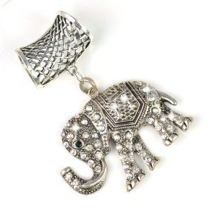 Scarves Accessory Jewelry Set India Elephant with Rhinestones, pt 628: Scarf Accessories: Jewelry