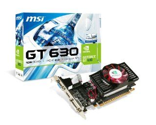 MSI NVIDIA GeForce GT 630 1GB DDR3 VGA/DVI/HDMI Low Profile PCI Express Video Card N630 1GD3/LP: Computers & Accessories