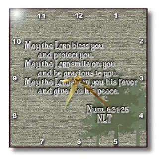 dpp_20537_2 777images Designs Graphic Design Bible Verse   Aaron's Blessing Numbers 624 26 Bible verse   Wall Clocks   13x13 Wall Clock