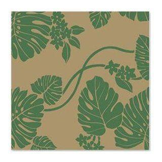 Green Monstera Hawaiian Gift Wrap Paper / 2 ROLLS Health & Personal Care