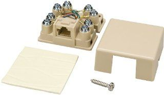Allen Tel Products AT635C3 1 Port, Mounting Screw, Snap On Cover, 8 Position, 8 Conductor, Keyed, No Shorting Bar Voice Connecting Block, Ivory Electronics