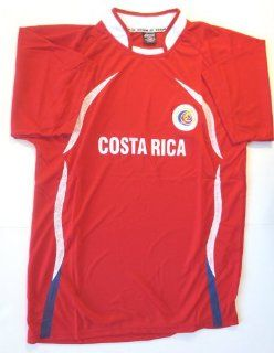 COSTA RICA SOCCER JERSEY SIZE LARGE .NEW : Sports & Outdoors