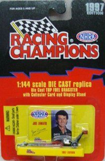1997 Edition   Racing Champions   NHRA   Joe Amato Top Fuel Dragster   1144 Scale Die Cast Replica Pro Stock Car Collectible   Toys & Games