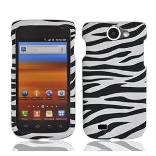 For T Mobil Samsung Exhibit II 4G T679 Accessory   Zebra Design Hard Case Proctor Cover + Free Lf Stylus Pen: Cell Phones & Accessories
