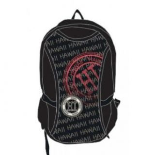 Robin Ruth Canvas Backpack Hawaii Stamp Black, White, Red One Size
