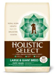 Holistic Select Large and Giant Breed Puppy Health Lamb and Oatmeal Recipe Dry Dog Food, 15 Pound Bag : Dry Pet Food : Pet Supplies