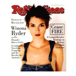 Rolling Stone Magazine March 10, 1994 Issue No.677 Winona Ryder Cover: Books