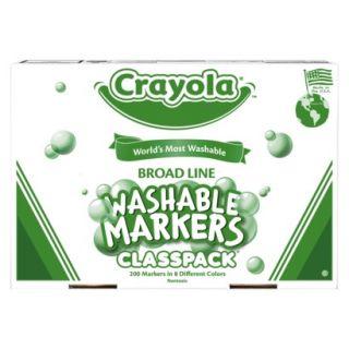 Crayola Wash Broad Markers Classpack   200 Count