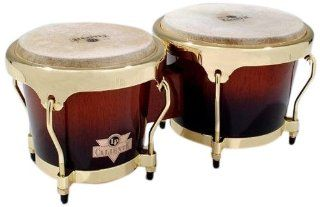 Latin Percussion LPC701 TSB Caliente Wood Bongos (Tobacco Burst): Musical Instruments