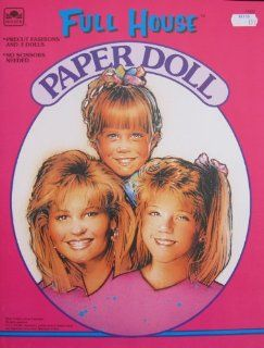 Golden FULL HOUSE PAPER DOLL Book UNCUT From TV Show w 3 DOLLS D.J., Stephanie & Michelle (1992)