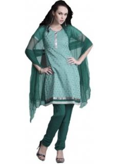SLSDV706R   Cbazaar Salwar Kameez Green: World Apparel: Clothing