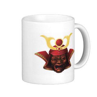 Fearsome samurai mask mug