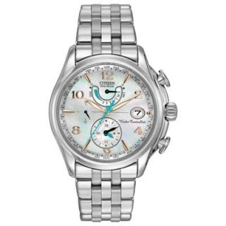 Ladies Citizen Eco Drive™ World Time A T Watch with Mother of Pearl