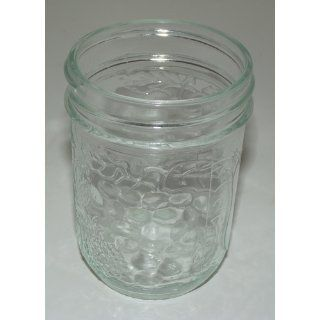 Vintage Embossed Fruit Design Canning Jars (1/2 Pint): Kitchen & Dining