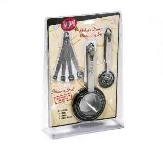 Tablecraft H726 Bakers Doxen Measuring Set Includes Measuring Spoons, Measuring Cups And Spice Spoons Kitchen & Dining