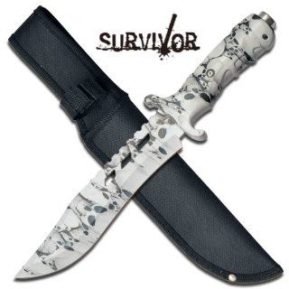 Survivor HK 728SC Outdoor Fixed Blade Knife 12 Inch Overall  Hunting Knives  Sports & Outdoors