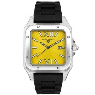 Swiss Legend Men's SL 40067 77 St. Tropez Collection Square Yellow Dial Watch SWISS LEGEND Watches