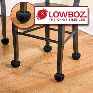 Lowboz  The Chair Silencer   1 Chair Pack / BLACK   Chair Pads