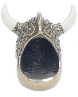 Alexander Mcqueen Horned Viking Skull Ring