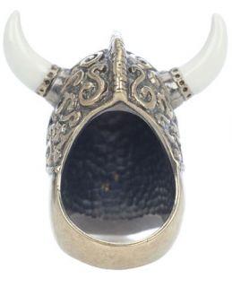 Alexander Mcqueen Horned Viking Skull Ring