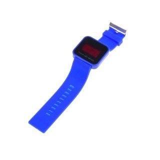 BestDealUSA Cool Deep Blue Color Touch Screen Digital LED Wrist Watch Silicone Band: Watches