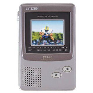 """CITIZEN AMERICA CORP ST 760 2.2"""" Hand Held Color TV: RCA Thesaurus: Electronics"""