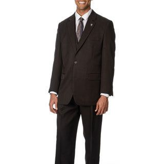 Don Mart Clothes Stacy Adams Mens Brown 3 piece Vested Suit Brown Size 38R