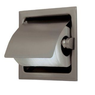 Gatco 786 Recess 6 1/4 Inch Square Toilet Paper Holder with Cover, Satin Nickel   Recessed Toilet Paper Holder Brushed Nickel