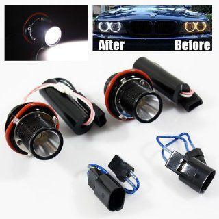 2 X 3W BMW E39 CREE LED Chips Halo Bulbs 7000K White Angel Eyes Lamps Automotive